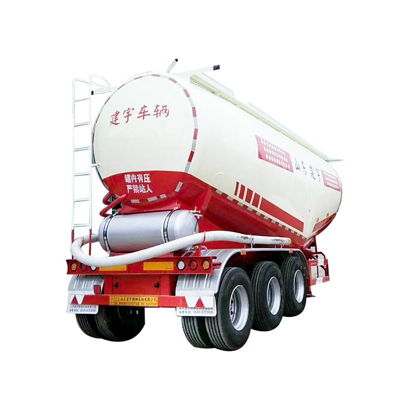 Cement bulk powder carrier truck for delivering cement powder