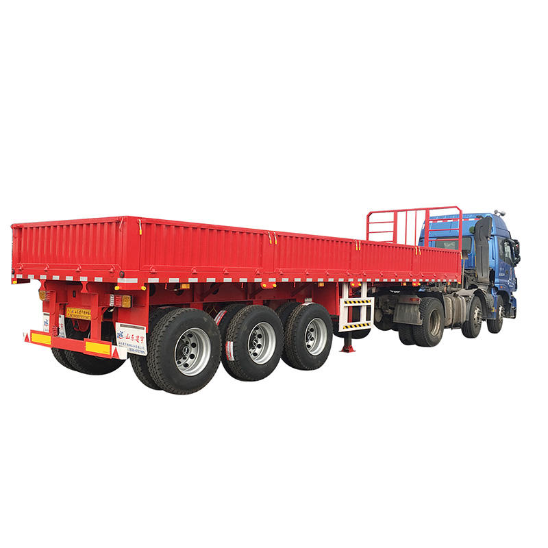 Best quality drop side semi cargo trailers for bulk cargo