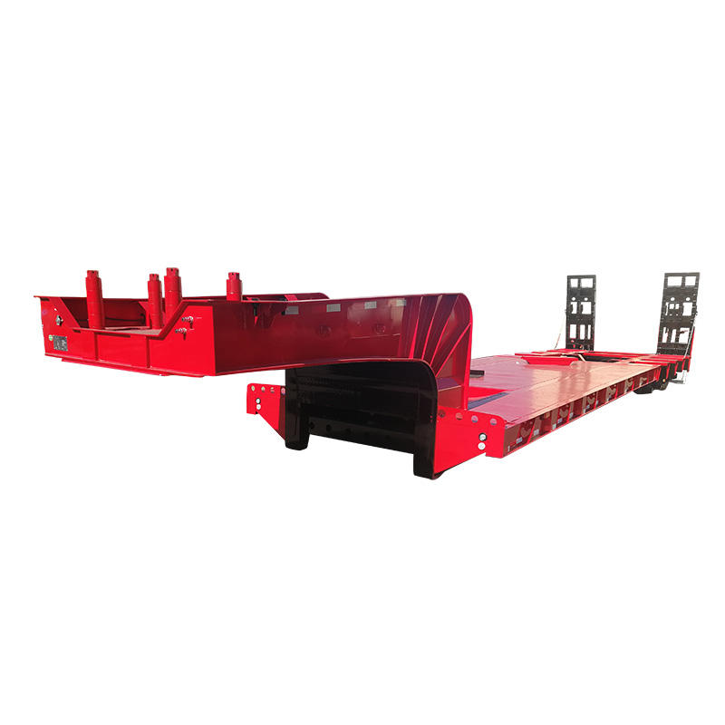 Low bed semi trailer-detachable low bed semi trailer