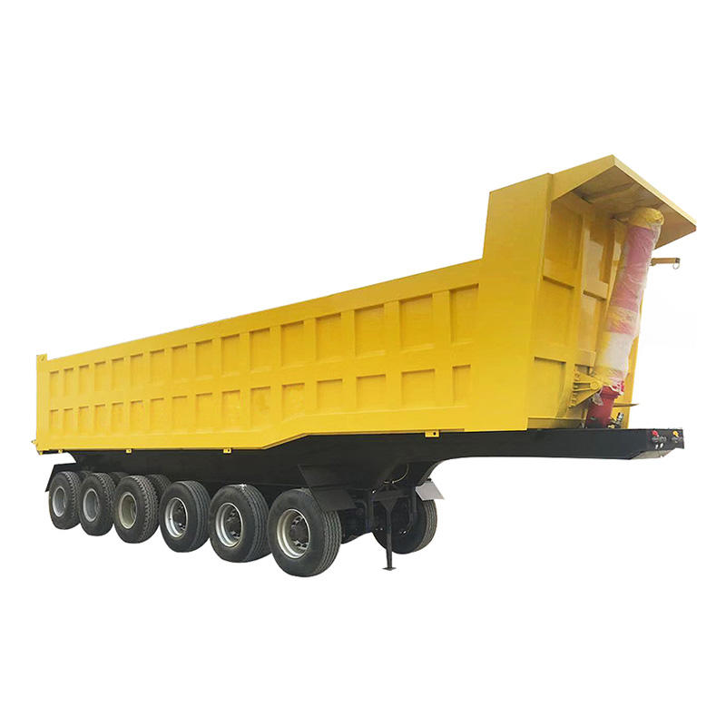 Rear dump semi trailer - delivery for sands and stones