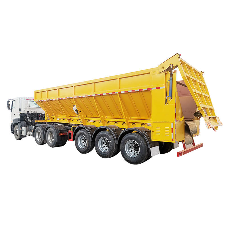 Crawler-type tipper dump box trailer-delivery for sandstone and coal mine