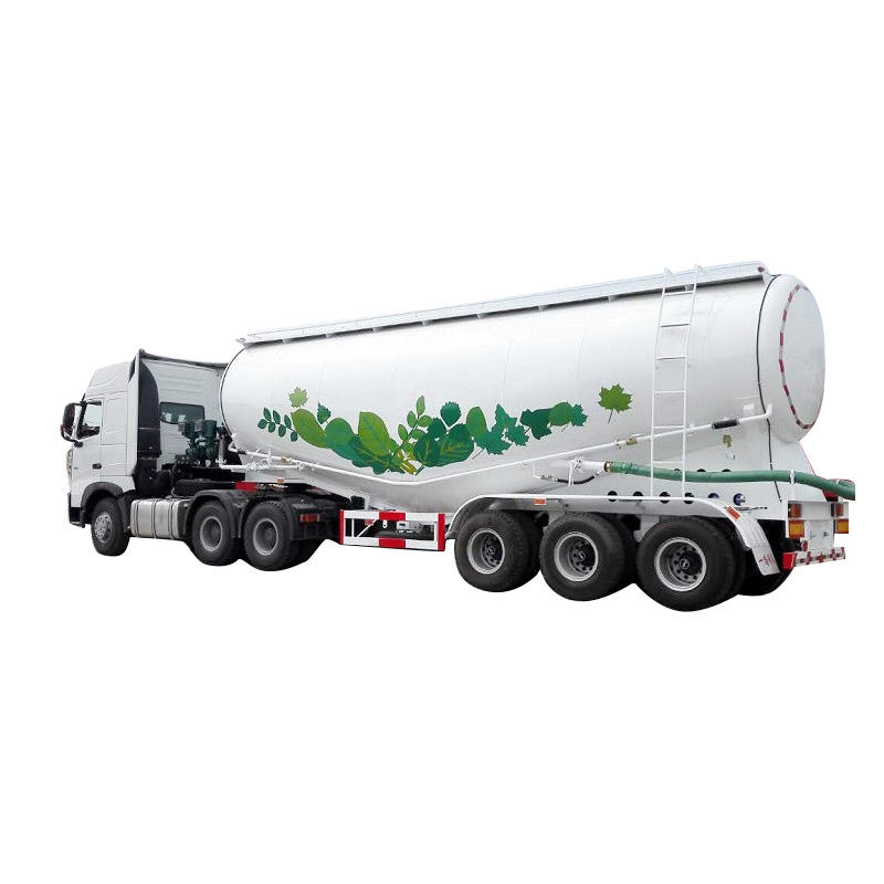 Bulk cement tanker semi trailer - Delivery for bulk cement