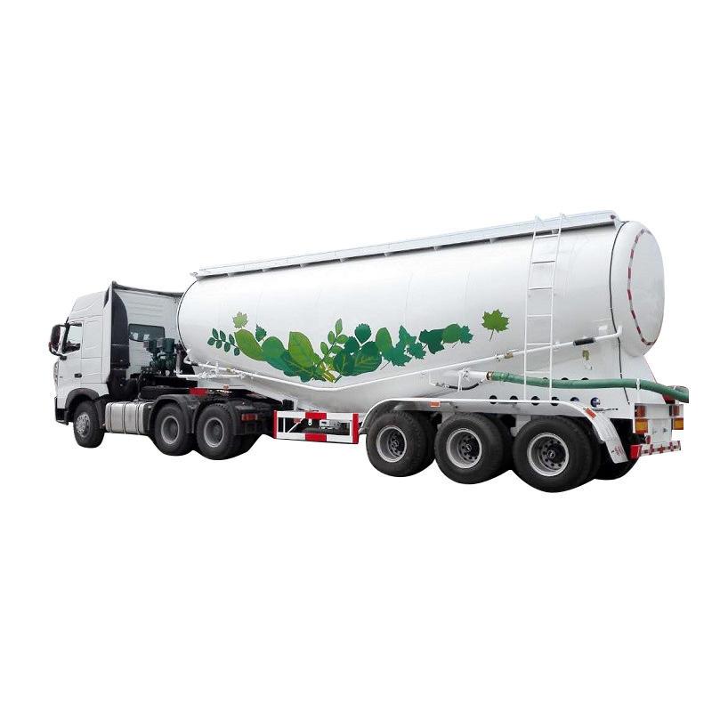 Bulk cement tanker semi trailer - Delivery for bulk cement