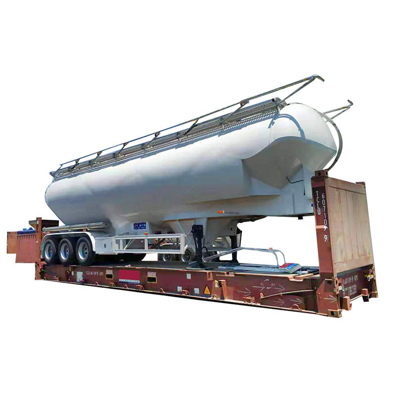 Bulk powder transport vehicle-bulk cement trailer and delivery for flour or other powder