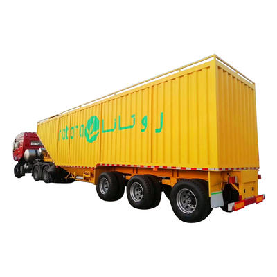 Steel box semi bed trailer-delivery food
