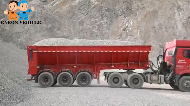Crawler-type tipper trailer - types of trailers