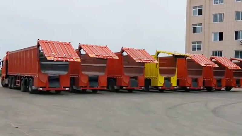 Crawler-type dump trailer