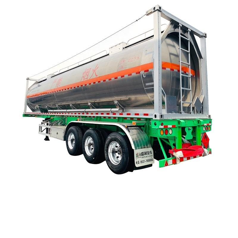 LNG Tanker Semi-trailer Delivery For LNG Tanker Trailer