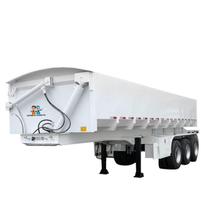 Side Tipper Semi Trailer - Delivery for sands and stone