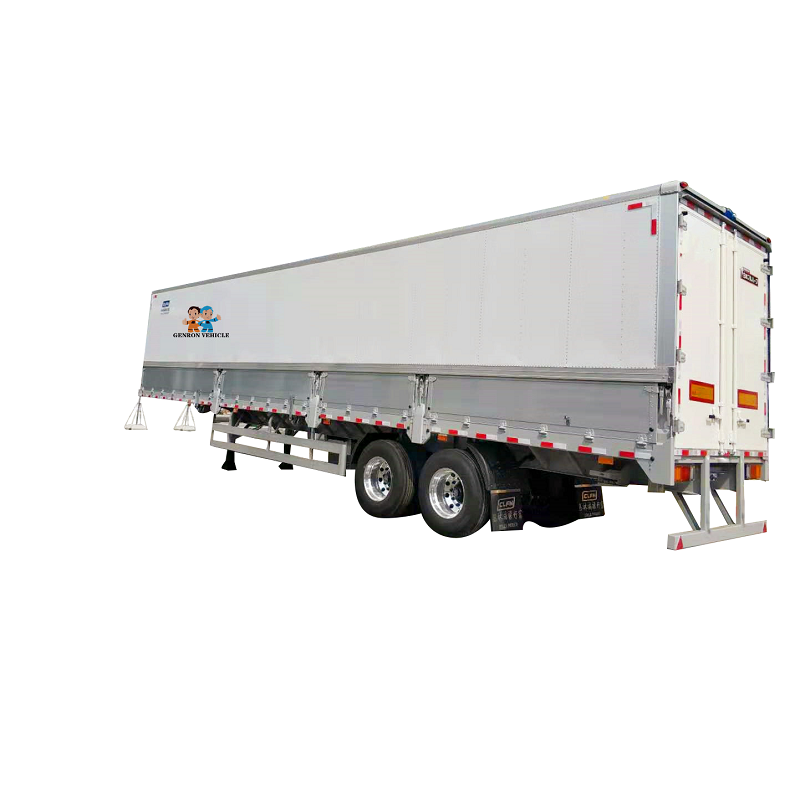 Side wing opening trailer-Delivery for light bubble goods and other bulk cargo