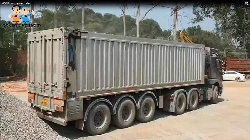 60-70Tons crawler type Tipper Trailer-delivery for sandstone