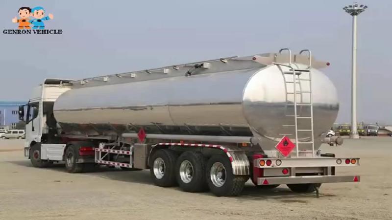 Aluminium Fuel Tank Semi Trailer