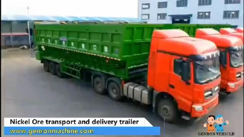 Nickel Ore Transport and delivery trailer