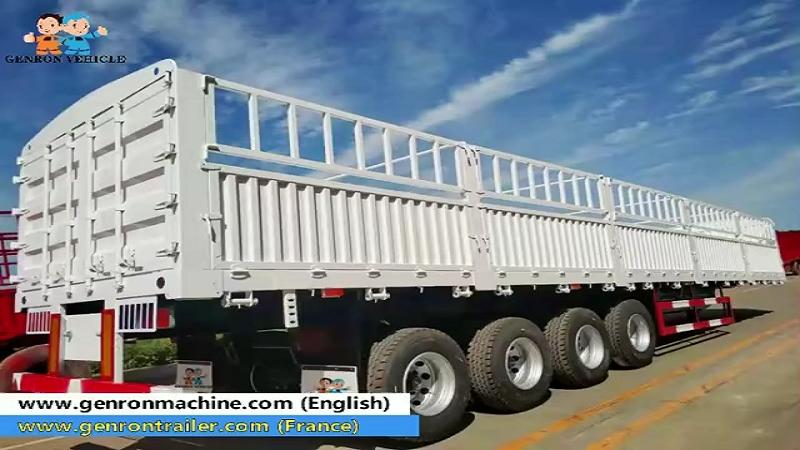 Four axles cement bags transport semi trailer