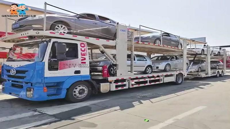 Car transport semi trailer
