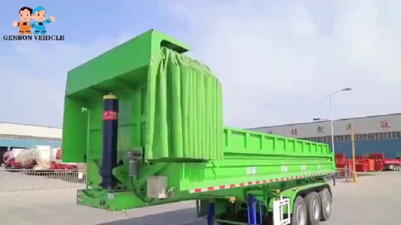 Rear Tipping Semi Trailer