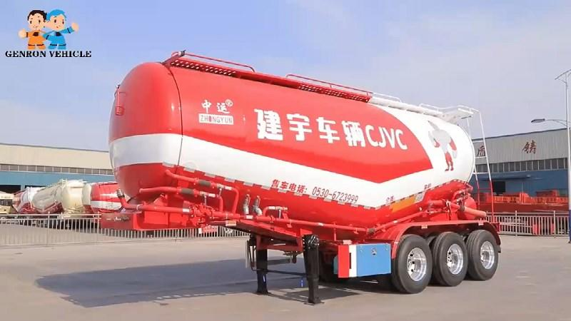 Bulk Cement Powder Transporter Cargo Trailers