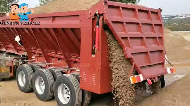 Crawler type Tipper Trailer-Delivery for Sand