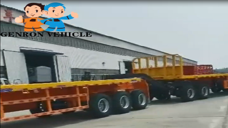 Super link flat bed trailer export to Mongoila  delivery for Coals