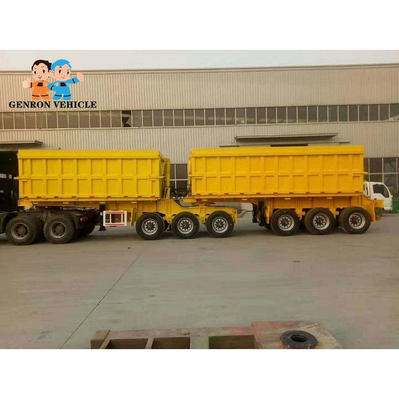 Super Link Side Dump Truck And Trailer - Delivery for Sands and Stone