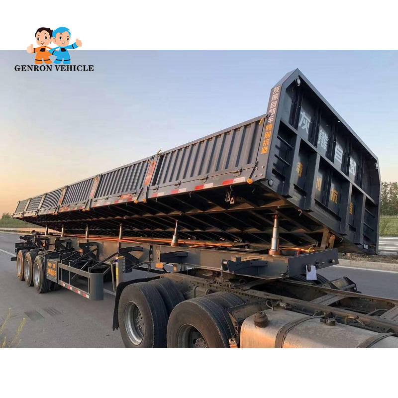 Side Tipper Semi Truck Trailer 3 Axles Export To Kenya,Tanzania,etc