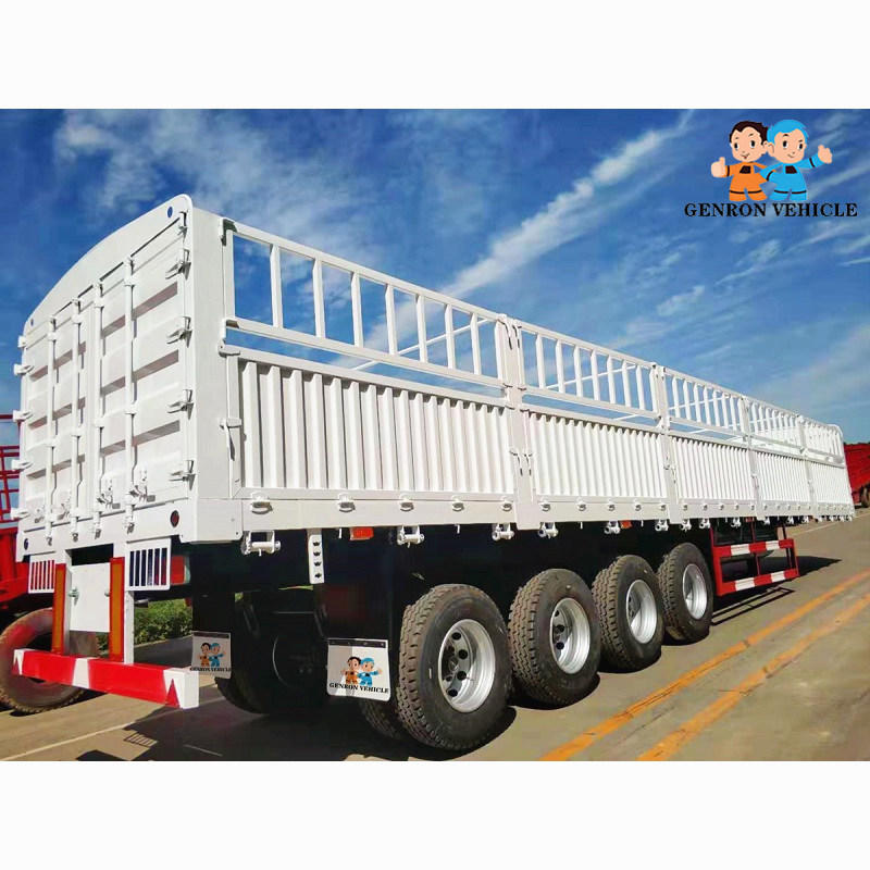 Storage fence semi trailer 3 Axles / 4 Axles with air suspension