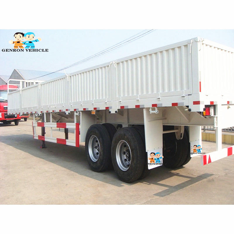 Best Cargo Trailers Drop Side Semi Trailer 2 Axles / 3 Axles Used To Delivery Bulk Cargos