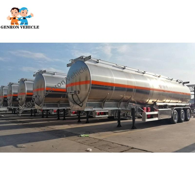 Aluminium Oil Tanker Semi Trailer Delivery for  Fuel, Petrol, Water, Palm Oil etc
