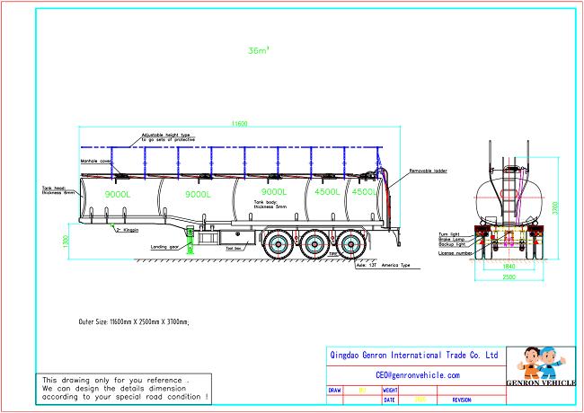 Genron lpg trailer tanker directly sale bulk production-1