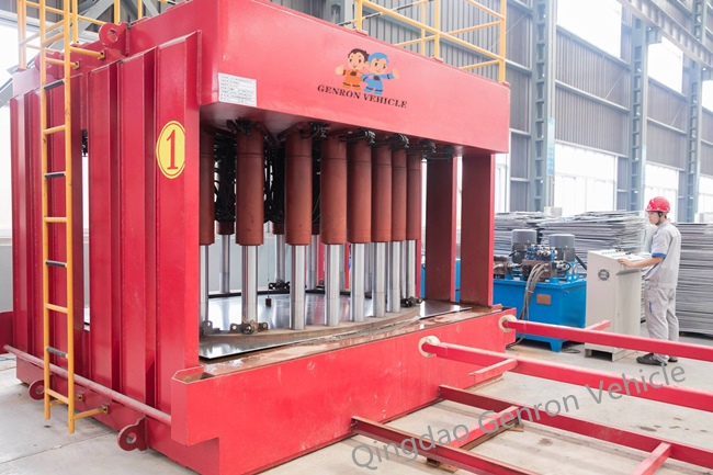 Genron lpg trailer tanker directly sale bulk production-8
