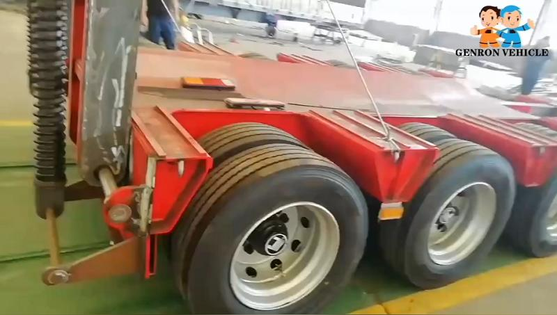 Extendable Low Flat Semi Trailer for Heavy-Duty Machinery