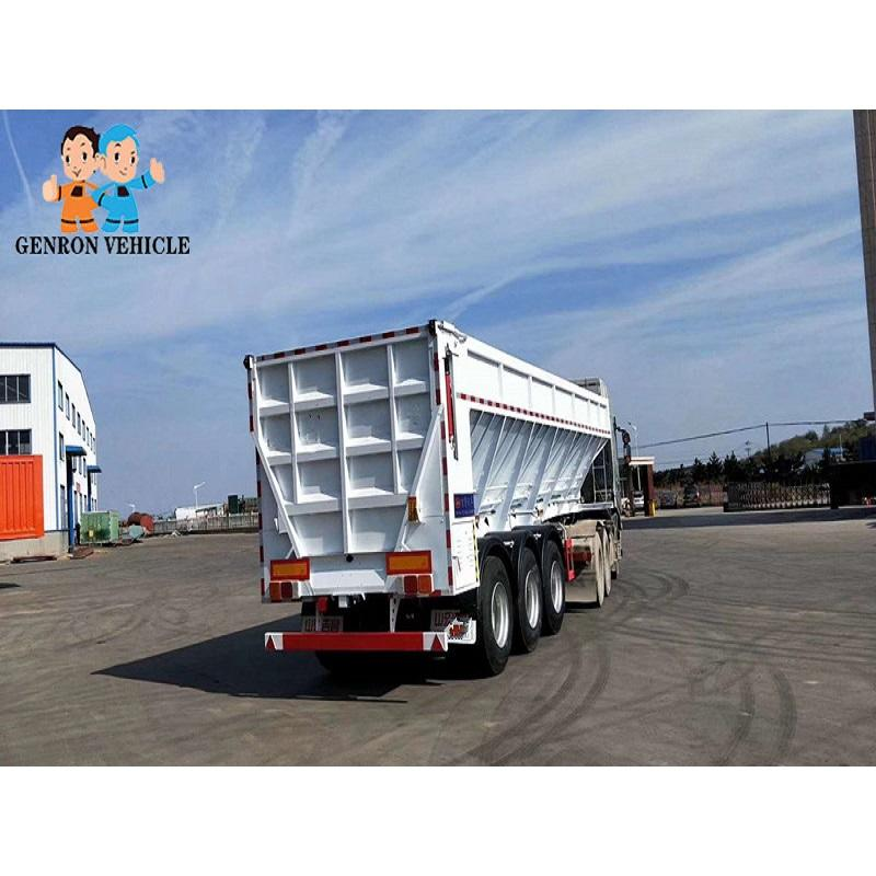 Crawler-type dump truck semi end dump trailers Genron Brand