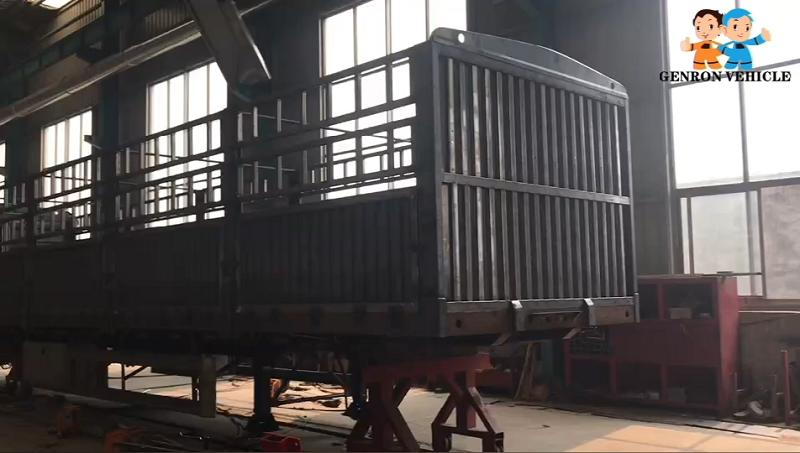 Fence/Stake Semi Trailer in Production