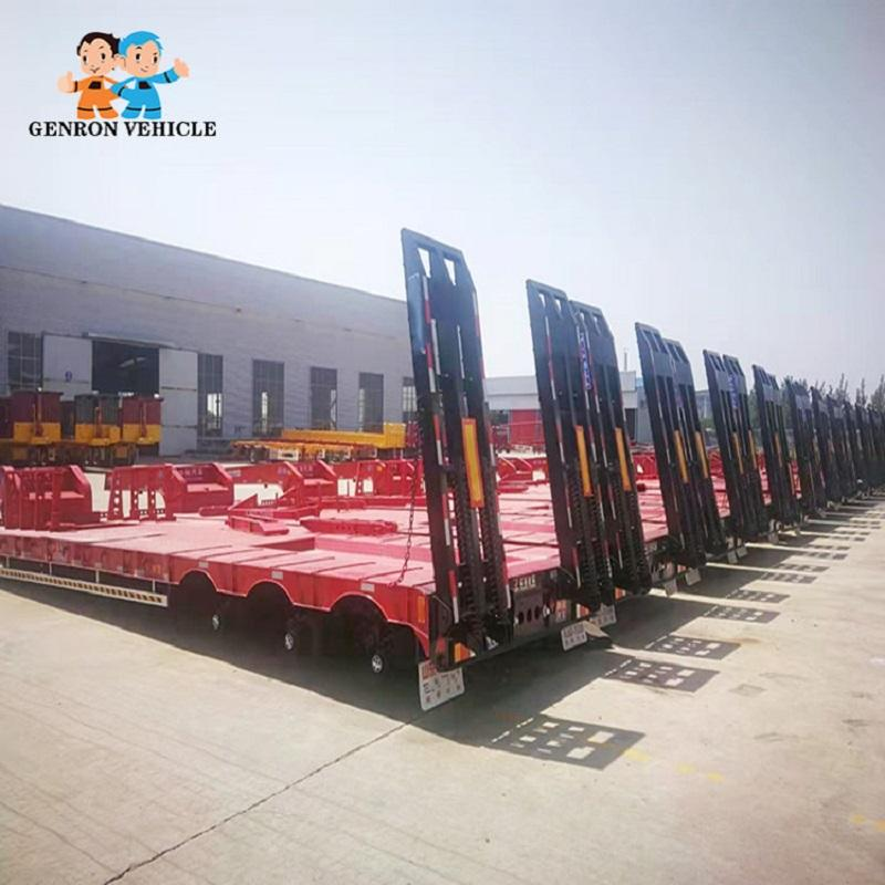 Semi low bed trailer About 8.5-13 T used to delivery heavy machinery