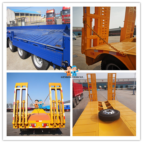 factory price truck low bed trailer from China for sale-1