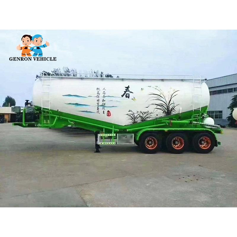 3 Axles 68 m3 bulk cement semi-trailer ODM / OEM