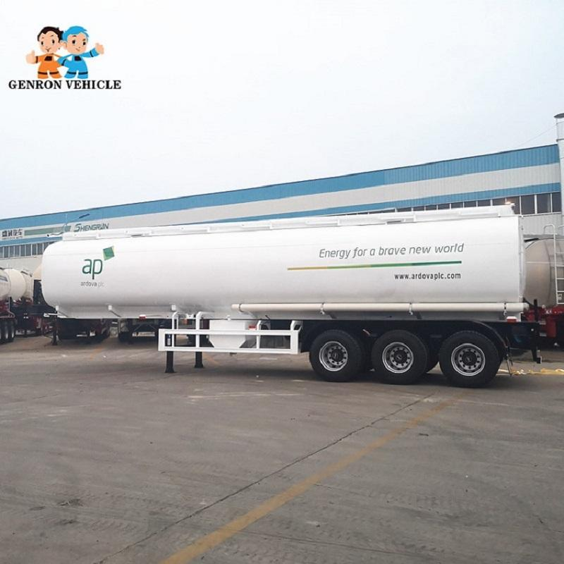 3 Axles Carbon Steel Oil semi tanker trailer used to delivery oil, fuel or diesel