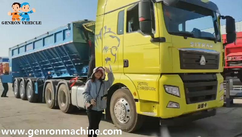 Crawler Type Dumping Semi Trailer export to Malaysia