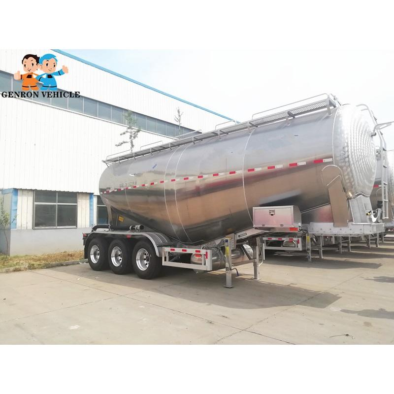 42 CBM bulk cement carrier /tanker trailer for Kenya with BPW axles from China Genron Vehicle