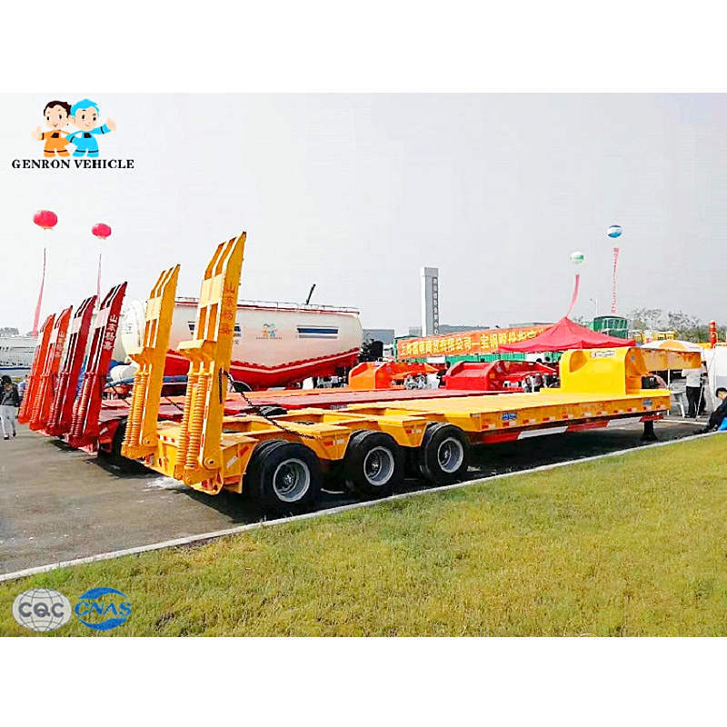 Large Capacity 40-60 Ton Lowbed Semi Trailer