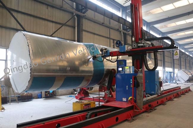 Tri Axles Aluminium Crude Oil 35CBM 35000L Semi Tanker Trailer 10