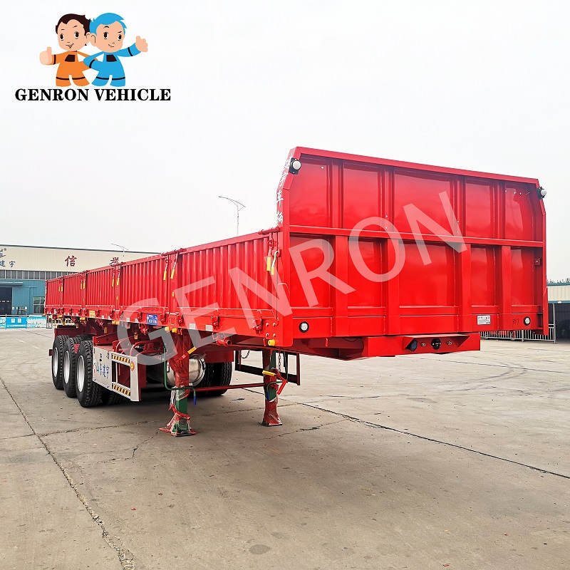 30 - 40 Tons Drop Side Custom Best Quality Cargo Trailers