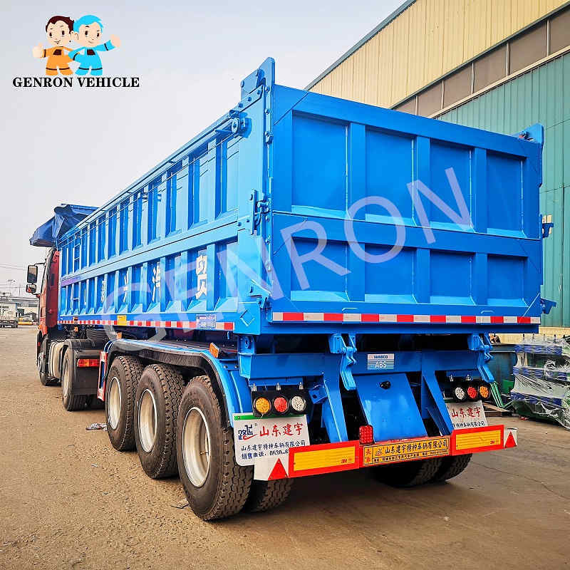High Quality 3 Axles Dump Truck Semi Truck Dump Trailer