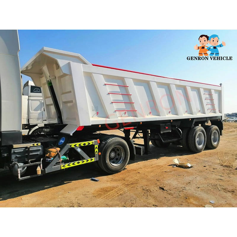 Professional 9.5m Bogie Suspension End Dump Semi Trailers