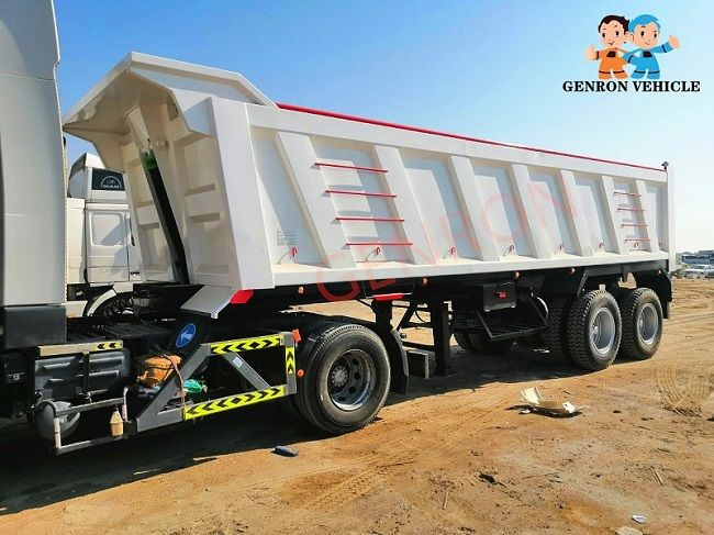 Genron low-cost dump truck trailer manufacturer for sale-1