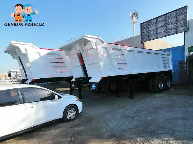 Genron low-cost dump truck trailer manufacturer for sale-2