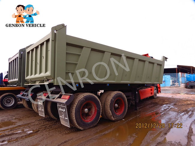 Genron low-cost dump truck trailer manufacturer for sale-3