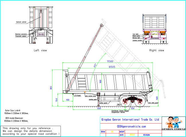 Genron low-cost dump truck trailer manufacturer for sale-5