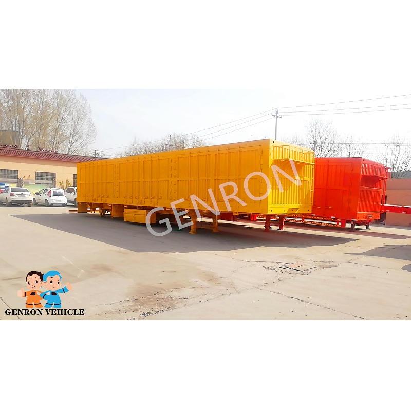 Mongolia tandem Bulk Cargo Box Semi Trailer