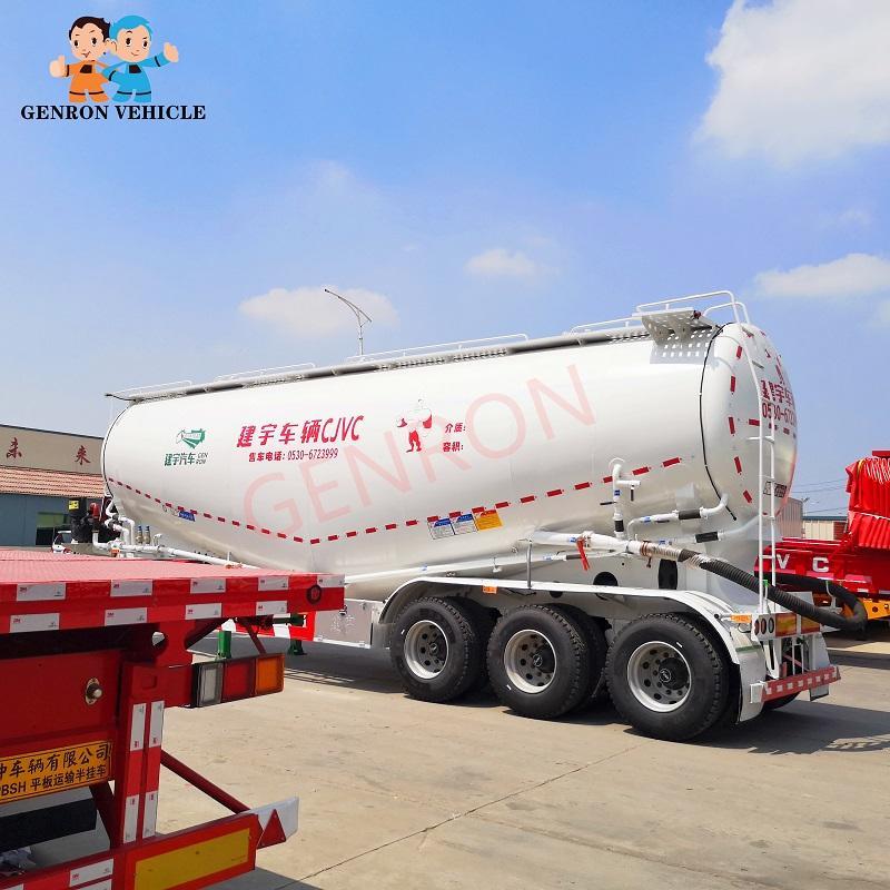 3 Axles 30CBM 40CBM Fly Ash Silo Cement Tanker Semi Trailer